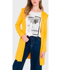 cardigan io amarillo - calce regular