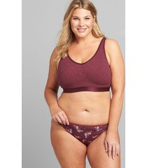 lane bryant women's stretch lace bralette with scoop back 18/20 grape wine