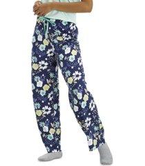 hue women's floral-print classic pajama pants