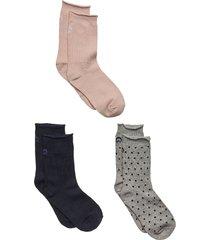 jill socks 3 pack lingerie socks regular socks grå cream