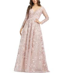 mac duggal embroidered gown