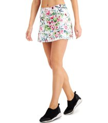 ideology printed pleated skort, created for macy's