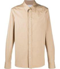 bottega veneta raglan sleeve dress shirt - neutrals