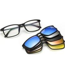 gafas sol polarizadas 5 lentes intercambiables tr90 8803 negro
