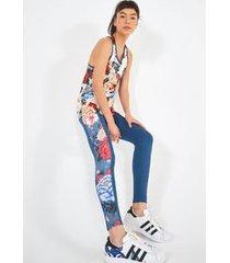calca legging oriente floral