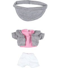 playera rosa shorts blancos saco gris churro distroller 970251
