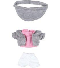 playera rosa shorts blancos saco gris churro distroller 970251