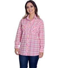 camisão pimenta rosada antonella xadrez rosa - kanui