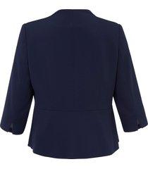 korte blazer van persona by marina rinaldi blauw