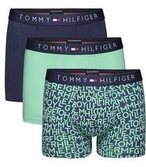 tommy hilfiger boxershort icon 3-pak print groen