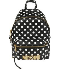 moschino polka dots backpack