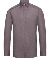 lightweight flannel shirt overhemd business grijs eton