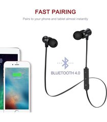 audífonos bluetooth deportivos, s3 auriculares estéreo audifonos bluetooth manos libres  con cancelación de ruido inalámbrico para sony iphone samsung (negro)