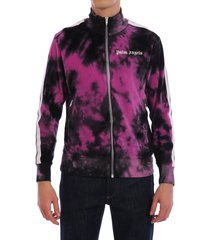 palm angels tie-dye chenille track jacket