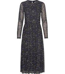 dresses knitted jurk knielengte blauw esprit casual