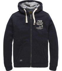 hooded jacket brushed sweater * dark navy