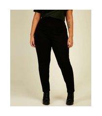 calça plus size feminina legging cintura alta marisa