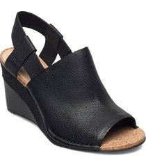 spiced bay sandalette med klack espadrilles svart clarks