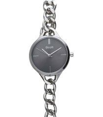 dubai orologio in acciaio silver con quadrante grigio per donna