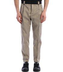 dolce & gabbana striped crop trousers