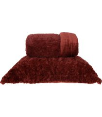 cobertor king slim peles dupla face com porta travesseiro ferrara - tessi - unico - dafiti