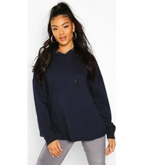 basic oversized hoodie, navy