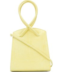 little liffner twisted lizard-effect tote - yellow