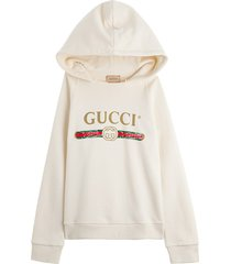 gucci jersey hoodie with logo print