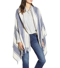 women's madewell twill stripe cape scarf, size one size - pink