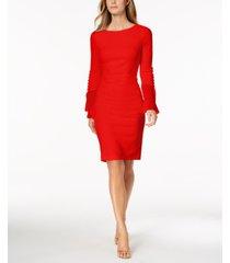 calvin klein chiffon button-sleeve dress