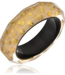 bracelete le diamond esmaltado onça dourado