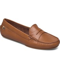 essential leather moccasin loafers låga skor brun tommy hilfiger