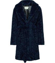 adrielle faux fur coat outerwear faux fur blå by malina