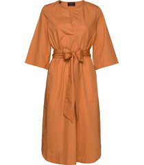 slfcarlotta 3/4 midi kaftan dress b knälång klänning orange selected femme