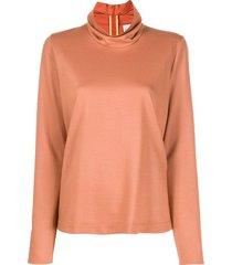 forte forte ruffled-neck sweater - neutrals