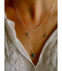 collar de diseño de cadena múltiple de oro