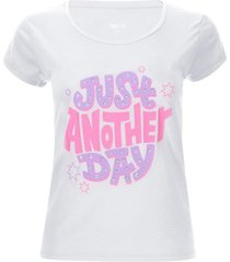 camiseta descanso just day color blanco, talla l