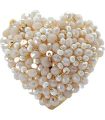 anillo pasionaria baño oro perlado bijulovers