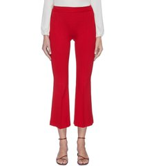 pull-on flared cropped pants