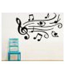 adesivo de parede passarinhos músicais - médio