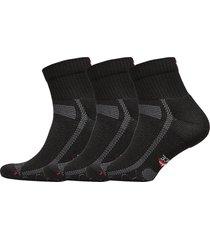 long distance running socks 3 pack ankelstrumpor korta strumpor svart danish endurance