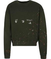 off-white vintage paint over sweatshirt