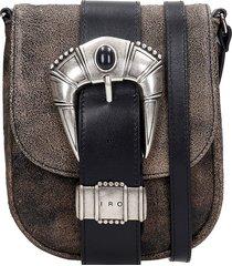 iro lemmy shoulder bag in black leather