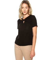 blusa negro tommy hilfiger beauty