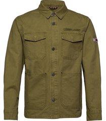tjm cotton cargo jacket jeansjacka denimjacka grön tommy jeans