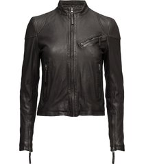 kassandra leather jacket läderjacka skinnjacka svart mdk / munderingskompagniet