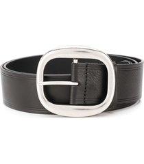 dsquared2 oversized buckle belt - black