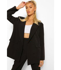 boxy oversized double breasted dad blazer