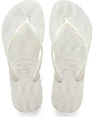 women's havaianas slim flip flop, size 41/42 br - white