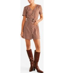 mango belted striped shirt dress